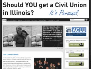 civilunions.aclu-il.org screenshot