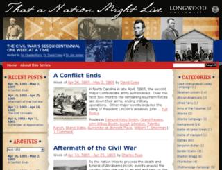 civilwar150.longwood.edu screenshot
