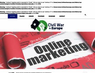 civilwarineurope.com screenshot