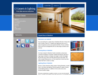 cjcarpetsandlighting.com screenshot