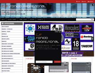 cjfsonidoprofesional.com screenshot