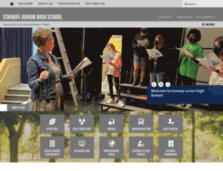 cjhs.conwayschools.org screenshot