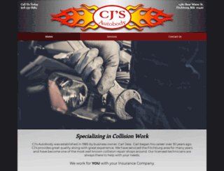 cjsautobody.com screenshot