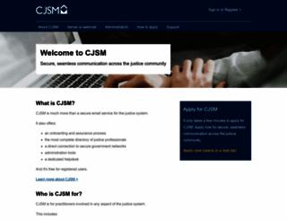 cjsm.justice.gov.uk screenshot