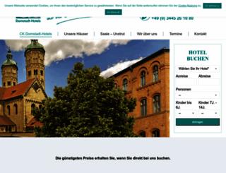 ck-domstadt-hotels.de screenshot
