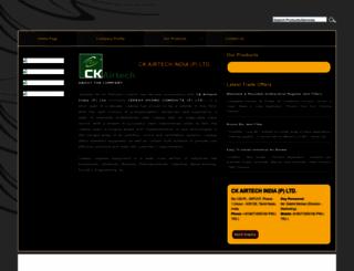 ckairtech.tradeindia.com screenshot
