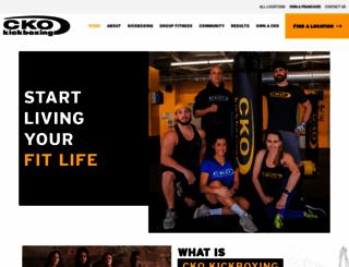 ckokickboxing.com screenshot