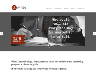 ckwrites.com screenshot