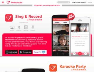 cl.redkaraoke.com screenshot