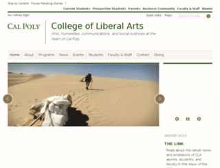 cla-stage.calpoly.edu screenshot