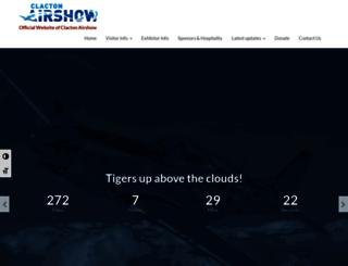clactonairshow.com screenshot