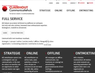 claerhout.be screenshot
