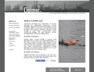 claimer.org screenshot