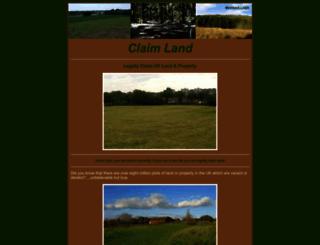 claimland.co.uk screenshot