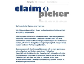 claimpicker.com screenshot