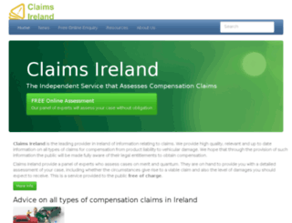 claims.ie screenshot