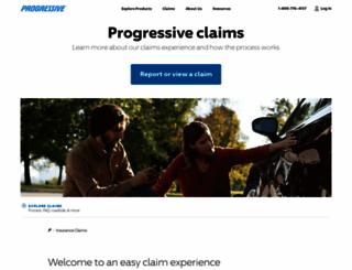 claims.progressive.com screenshot