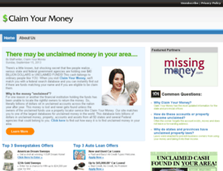 claimyourmoneyonline.com screenshot