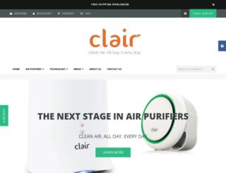 clair-air.myshopify.com screenshot