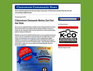 clairemont.com screenshot