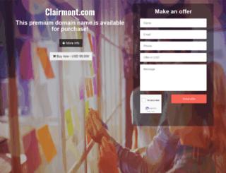 clairmont.com screenshot