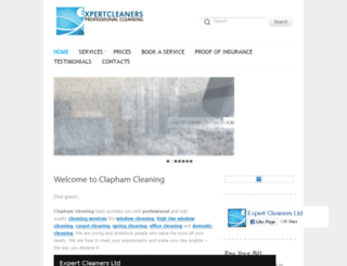 claphamcleaning.co.uk screenshot