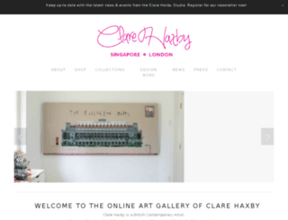 clare-haxby.squarespace.com screenshot
