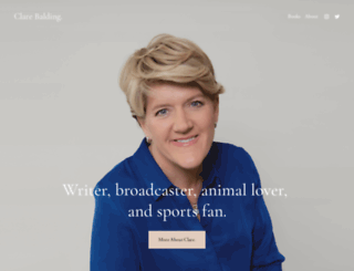 clarebalding.co.uk screenshot