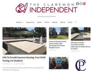 claremontindependent.com screenshot