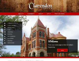 clarendontx.com screenshot