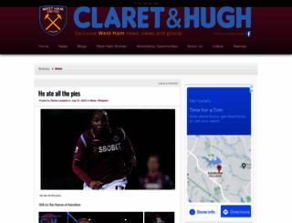 claretandhugh.info screenshot