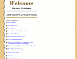 clarifyingchristianity.com screenshot