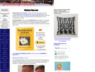 clarinet-now.com screenshot