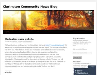 clarington.wordpress.com screenshot