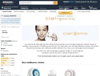 clarisonic.fr screenshot