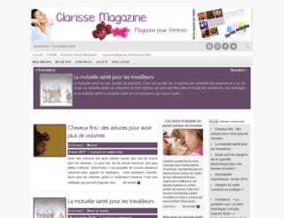 clarisse-magazine.com screenshot
