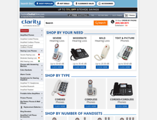 clarity.factoryoutletstore.com screenshot