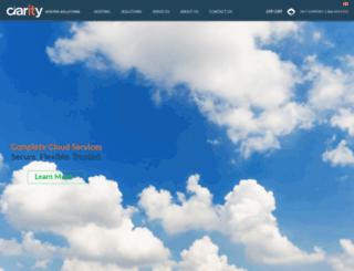 claritywebhosting.com screenshot