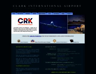 clark-airport.com screenshot