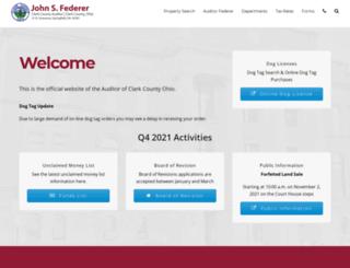 clarkcountyauditor.org screenshot