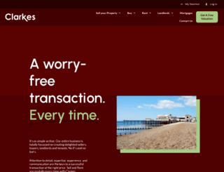 clarkesestates.co.uk screenshot