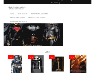clarkleatherjackets.co.uk screenshot