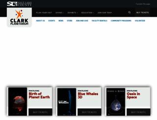 clarkplanetarium.org screenshot