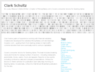 clarkschultz.com screenshot
