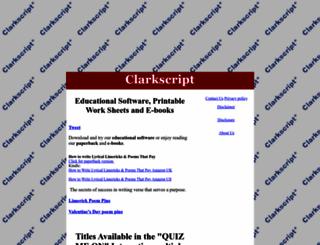 clarkscript.com screenshot