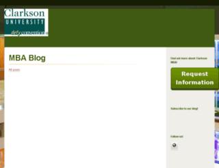 clarkson.hs-sites.com screenshot