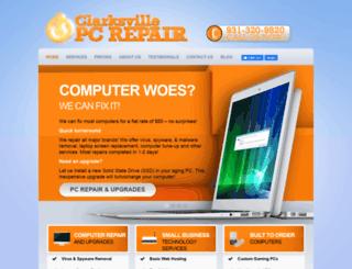 clarksvillepcrepair.com screenshot