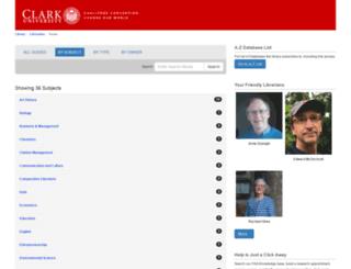 clarku.libguides.com screenshot