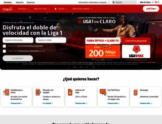 claro.com.pe screenshot