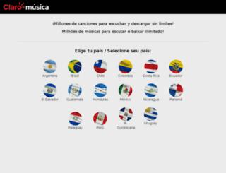 claro.imusica.com.br screenshot